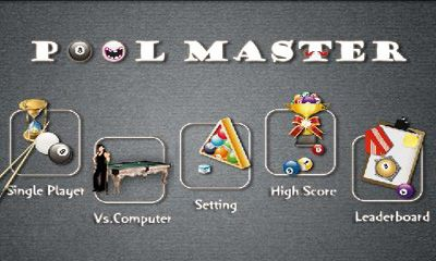 Screenshots of the Pool Master for Android tablet, phone.