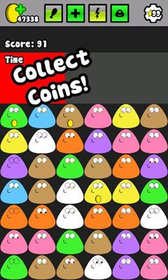Screenshots of the Pou for Android tablet, phone.