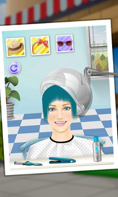 Screenshots of the Princess Hair Salon for Android tablet, phone.