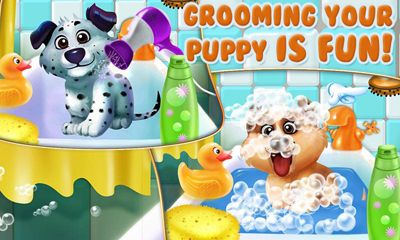 Screenshots of the Puppy Dog Dress Up & Care for Android tablet, phone.