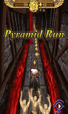 Screenshots of the Pyramid Run for Android tablet, phone.