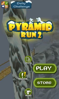 Screenshots of the Pyramid Run 2 for Android tablet, phone.