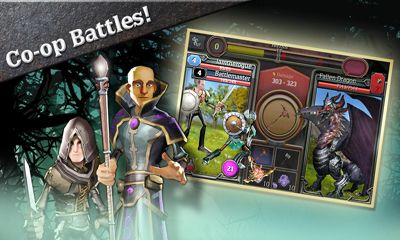 Screenshots of the Quests & Sorcery for Android tablet, phone.