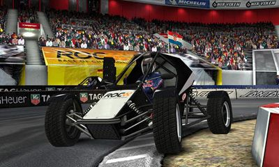 Screenshots of the Race of Champions for Android tablet, phone.