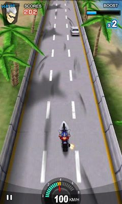 Screenshots of the Racing Moto for Android tablet, phone.