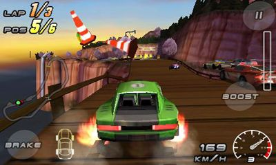 Screenshots of the Raging Thunder 2 for Android tablet, phone.