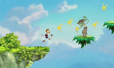 Screenshots of the Rayman Jungle Run for Android tablet, phone.