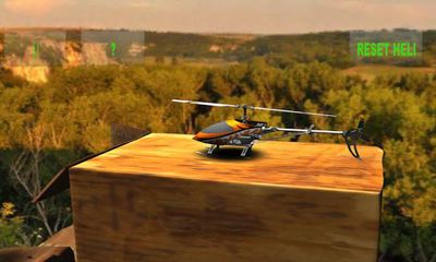 Screenshots of the RC Helicopter Simulation for Android tablet, phone.