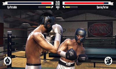 Screenshots of the Real Boxing for Android tablet, phone.