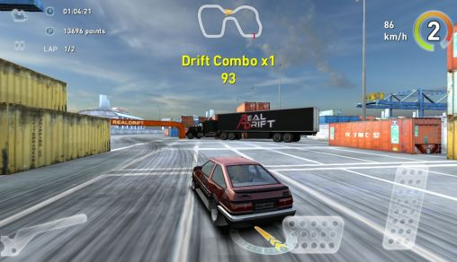 Screenshots of the Real drift for Android tablet, phone.
