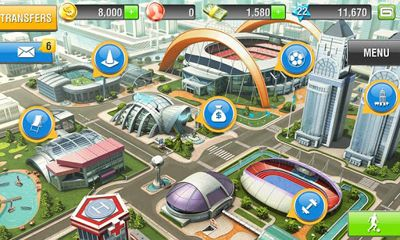Screenshots of the Real Football 2013 for Android tablet, phone.