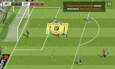 Screenshots of the Real Football 2014 for Android tablet, phone.