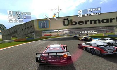Screenshots of the Real Racing 2 for Android tablet, phone.