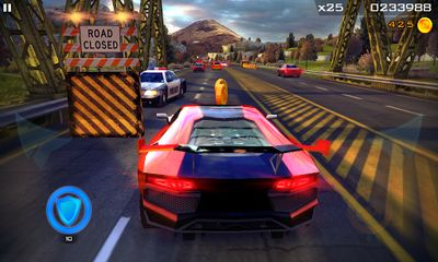 Screenshots of the Redline Rush for Android tablet, phone.