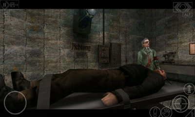 Screenshots of the Return to Castle Wolfenstein for Android tablet, phone.