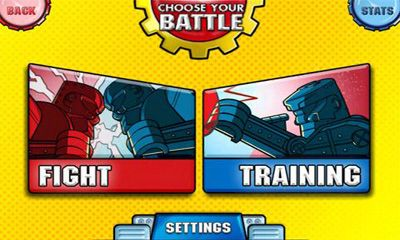 Screenshots of the Rock 'em Sock 'em Robots for Android tablet, phone.