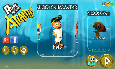 Screenshots of the Rope Escape Atlantis for Android tablet, phone.