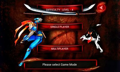 Screenshots of the Samurai Shodown II for Android tablet, phone.