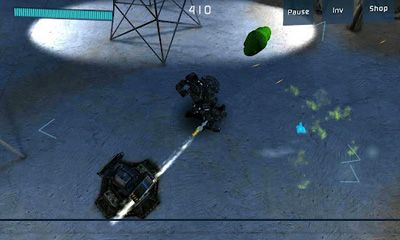 Screenshots of the SAWS:  The Puridium War for Android tablet, phone.