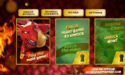 Screenshots of the Scorch for Android tablet, phone.