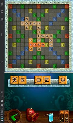 Screenshots of the Scrabble for Android tablet, phone.