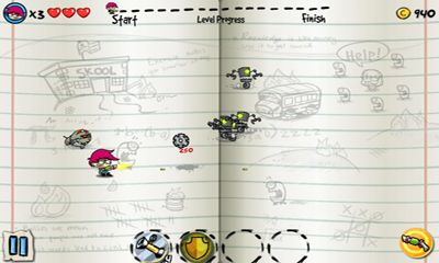 Screenshots of the Scribble hero for Android tablet, phone.