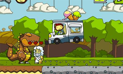 Screenshots of the Scribblenauts Remix for Android tablet, phone.