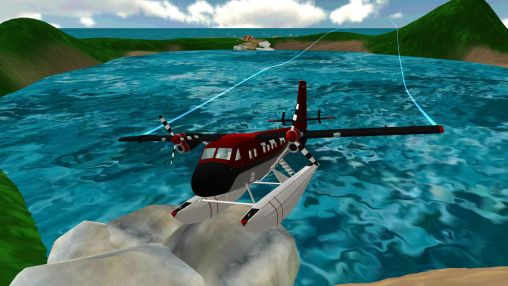 Screenshots of the Sea plane: Flight simulator 3D for Android tablet, phone.