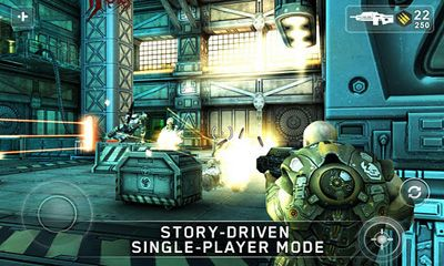 Screenshots of the SHADOWGUN for Android tablet, phone.