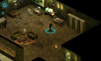 Screenshots of the Shadowrun Returns for Android tablet, phone.