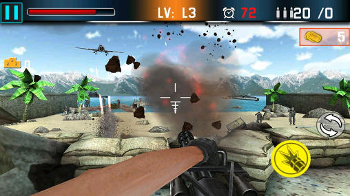 Screenshots of the Shoot war: Gun fire defense for Android tablet, phone.