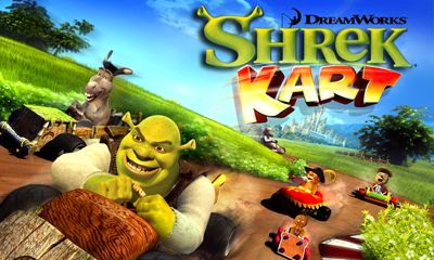 Screenshots of the Shrek kart for Android tablet, phone.
