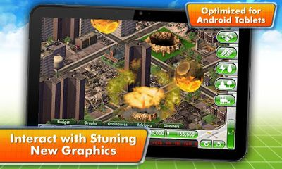 Screenshots of the SimCity Deluxe for Android tablet, phone.