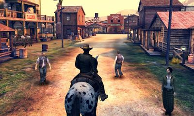 Screenshots of the Six-Guns for Android tablet, phone.