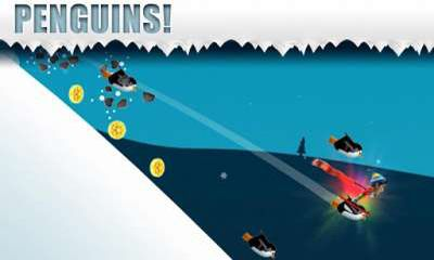 Screenshots of the Ski Safari for Android tablet, phone.