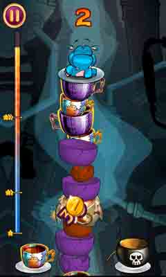Screenshots of the Sky Cups Match 3 for Android tablet, phone.