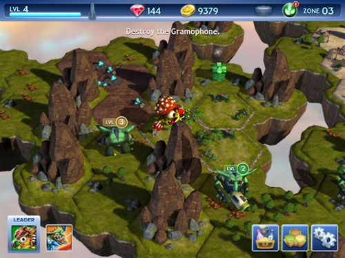 Screenshots of the Skylanders: Battlegrounds for Android tablet, phone.