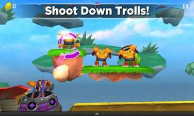 Screenshots of the Skylanders Cloud Patrol for Android tablet, phone.