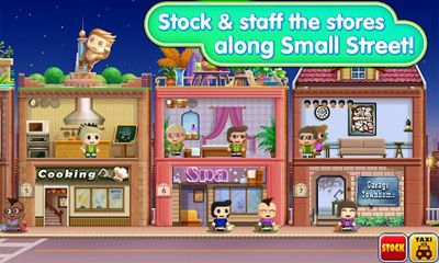 Screenshots of the Small Street for Android tablet, phone.