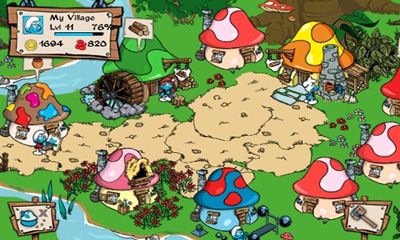 Screenshots of the Smurfs' Village for Android tablet, phone.