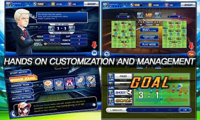 Screenshots of the Soccer Superstars 2012 for Android tablet, phone.