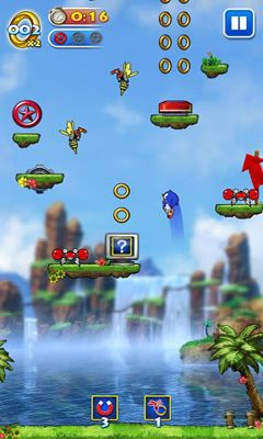 Screenshots of the Sonic Jump for Android tablet, phone.