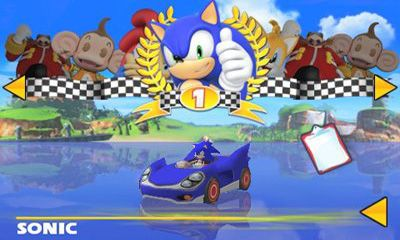 Screenshots of the Sonic & SEGA All-Stars Racing for Android tablet, phone.