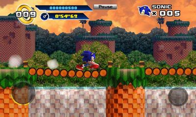 Screenshots of the Sonic The Hedgehog 4. Episode 1 for Android tablet, phone.