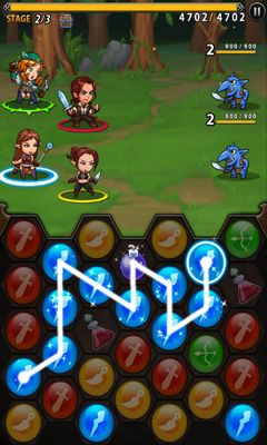 Screenshots of the Spirit stones for Android tablet, phone.