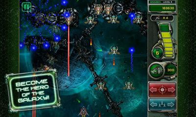 Screenshots of the Star Defender 4 for Android tablet, phone.
