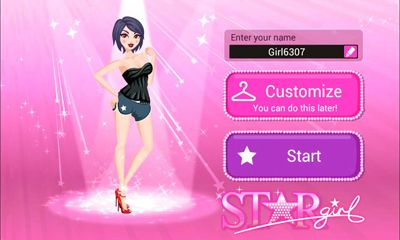 Screenshots of the Star Girl for Android tablet, phone.