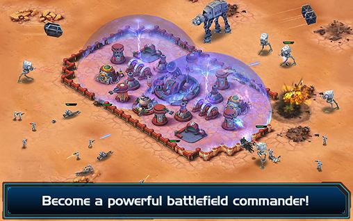 Screenshots of the Star wars: Commander for Android tablet, phone.