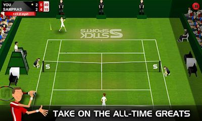 Screenshots of the Stick Tennis for Android tablet, phone.