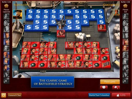 Screenshots of the Stratego: Official board game for Android tablet, phone.